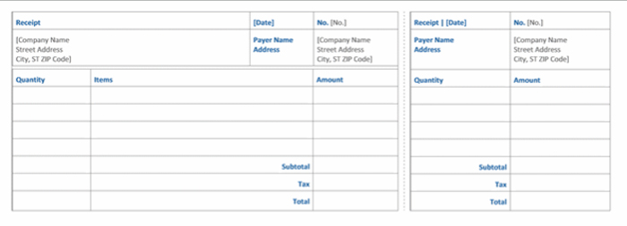 Top 10 Free Receipt Templates For Microsoft Word   Magtemplates