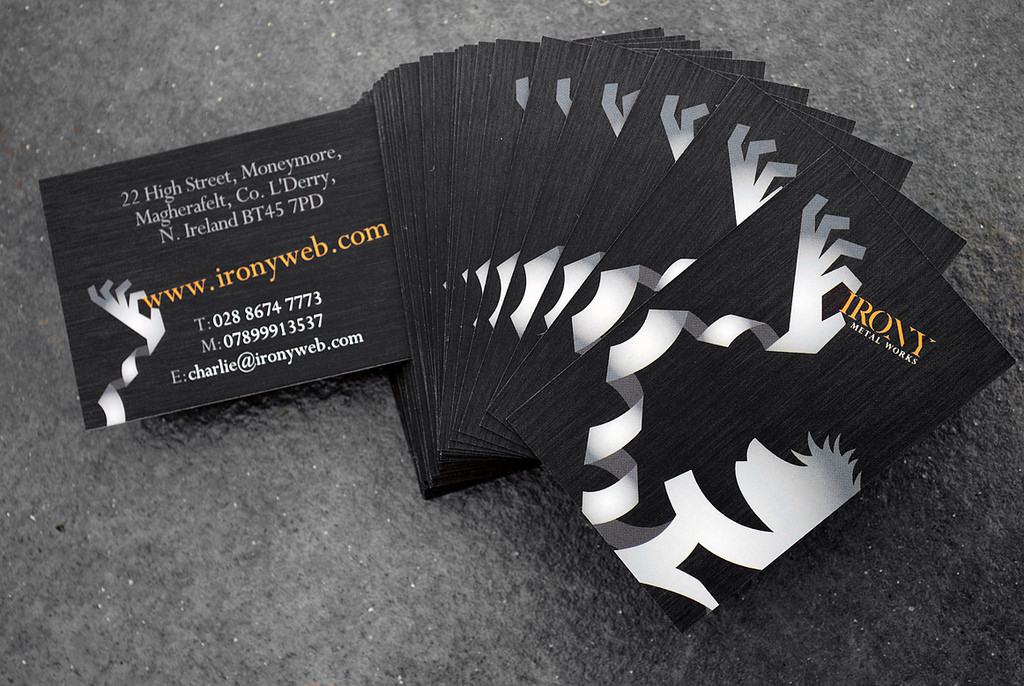 metal business cards examples