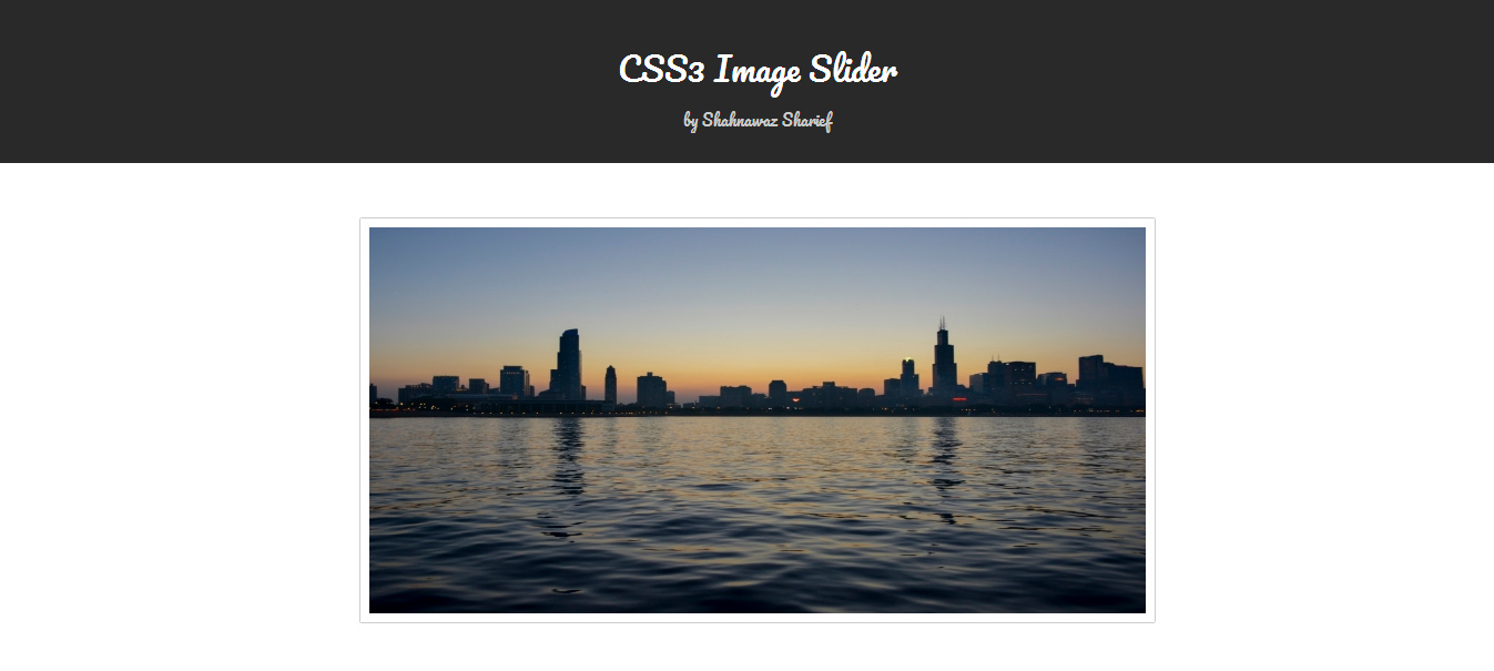 Pure CSS3 Image Sliders