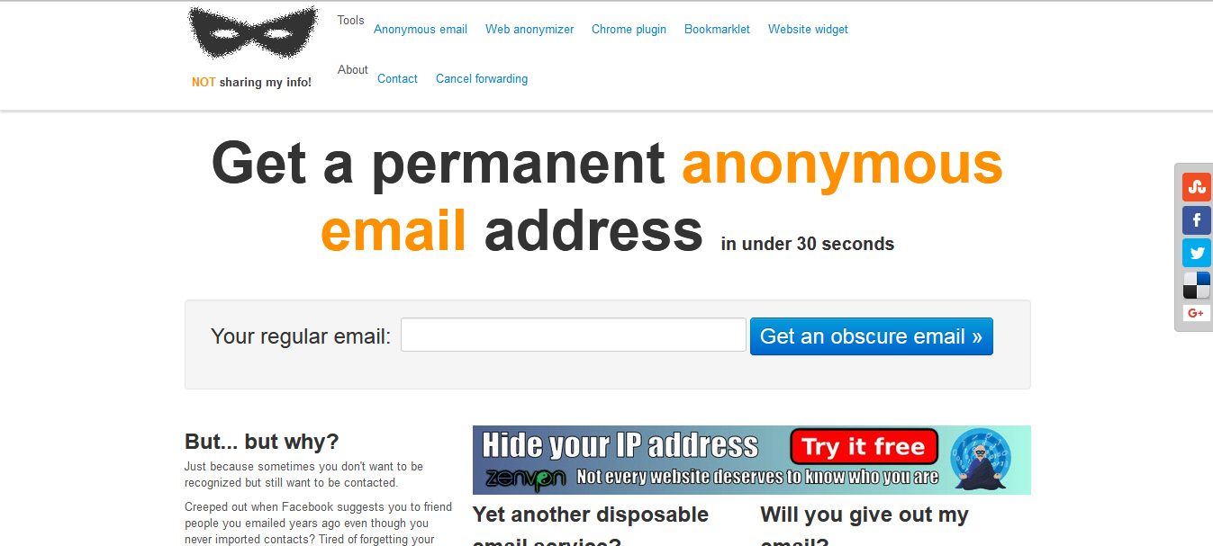 anonymous email service providers
